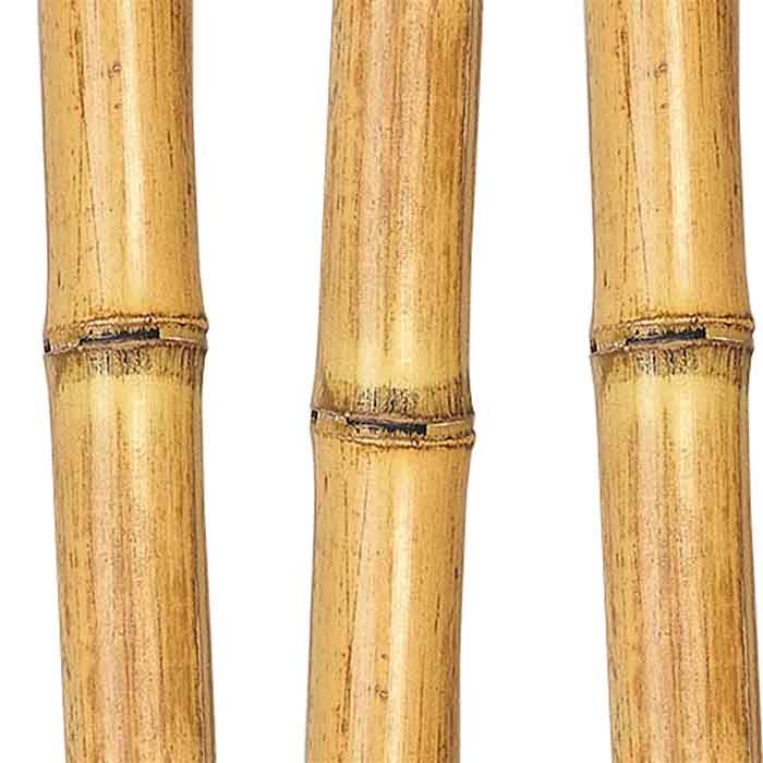 Bamboo poles feet natural