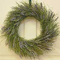 Winterbud and Dried Lavender Wreath 18""