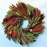 Feathered Friends Wreath 12""